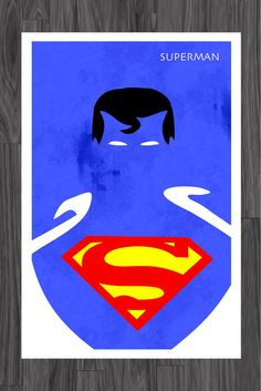 Hey, I found this really awesome Etsy listing at https://www.etsy.com/listing/108142320/minimalist-art-poster-of-superman-11x17