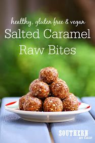 Looking for a healthy sweet treat? These Salted Caramel Raw Bites tastes just like candy but are raw, gluten free, vegan, refined sugar free and totally healthy! They are also freezer friendly and perfect for lunchboxes or on the go snacks! Healthy Vegan Dessert, Raw Vegan Desserts, Healthy Sweet Treats, Healthy Sugar, Raw Vegan Recipes, Vegan Treats, Healthy Sweets, Vegan Snacks, Healthy Baking