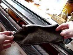 Быстрые следочки на вязальной машинке - YouTube