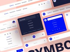 Symbol Design System 2 by Arthur Yarkov on Dribbble App Ui Design, Dashboard Design, Interface Design, User Interface, Design Design, Graphic Design, Build Your Own Website, Super Hero Outfits, Symbol Design