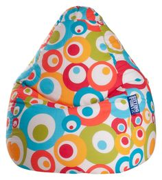 Retro never dies - Sitzsack >>Malibu L<<: türkis & buntes Retromuster - ca. 120 Liter - Produktnummer: 763209-808-00-110 - mehr auf: http://shoppingwelt.einrichtungspartnerring.de/