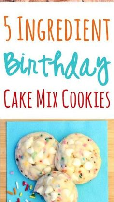 These Birthday Cake Mix Cookies taste are just 5 ingredients, and you're ready to party! FULL RECIPE HERE Lemon Cookie R. Lemon Cut Out Cookie Recipe, Lavender Cookie Recipe, Lime Cookie Recipes, Cookie Recipe Uk, Easy Shortbread Cookie Recipe, Lemon Meringue Cookies, Lemon Cookies Easy, Cream Cheese Cookie Recipe, Oatmeal Cookie Recipes