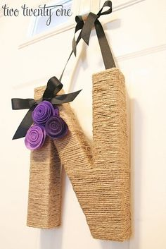 wood letters for crafts ideas | ... be able to do this...Cute wrapped wooden letter. craft-ideas-diy