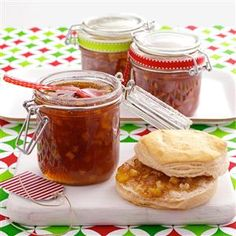 Caramel Apple Jam Recipe -I created this recipe one year when I had excess apples. The brown sugar gives the jam a wonderful caramel taste. I'm a retired master baker and cook who enjoys preparing Southern dishes for my wife of 48 years, two sons and five grandchildren. —Robert Atwood, West Wareham, Massachusetts