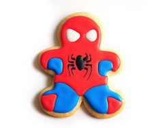 superhero sugar cookies   Spiderman Superhero Sugar Cookies via Etsy