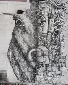 #les #nyc #grafitti #mural #wallart #urbanart #streetart #stickerart #lookup #deer #mechanics #innerworkings