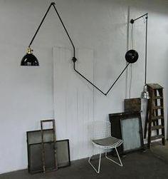 WO AND WÉ COLLECTION: Lampe murale de travail Bauhaus industrielle