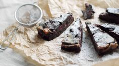 Brownie with cherries and salted caramel ! Wow!