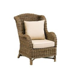 Seychelles Wing Chair with Exposed Frame