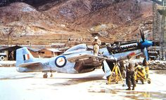 Flying Cheetahs: SAAF Mustangs in Korea The Mustang and the SAAF did not meet for the first time in Korea. Early models of this Briti. Ww2 Aircraft, Military Aircraft, Diorama, Time In Korea, South African Air Force, Korean Air, P51 Mustang, Cheetahs, Historical Pictures