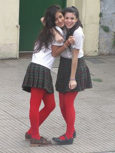 Students in Buenos Aires, I just loved the uniform!