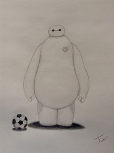 """How to Draw Baymax From Disney's """"Big Hero 6"""""""