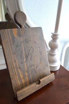 DIY Pottery Barn Kitchen Tablet Holder Knock-Off