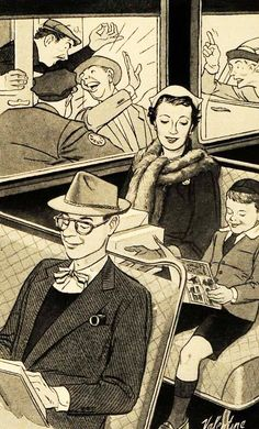 Comfort is Our Business - 1951 Heywood Wakefield ad illustration.