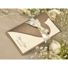 The heart cutout & fold Bridal Invitations, Pocket Wedding Invitations, Rustic Invitations, Wedding Stationery, Wedding Cards Handmade, Diy Wedding, Wedding Ideas, Fancy Fold Cards, Wedding Anniversary Cards