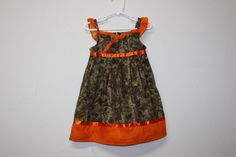 Baby Girls Camo and Orange Dress  Or Camo & Pink  by Beautiful6, $33.00