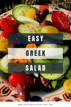 The traditional Greek salad recipe; healthy, simple and absolutely delicious! Find out how to make this Horiatiki (Xoriatiki) salad the traditional Greek way with this authentic recipe. Greek Yogurt Salad Dressing, Greek Chicken Salad, Greek Quinoa Salad, Greek Salad Pasta, Greek Salad Recipe Authentic, Easy Greek Salad Recipe, Greek Salad Recipes, Healthy Salad Recipes