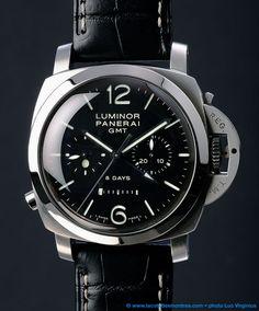 Panerai Luminor 1950 8 Days GMT watch, Chrono monopulsante, Panerai P.2004/1 calibre - PAM00275