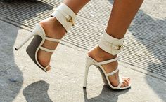 8fb8e0989b5 That& a Wrap — Check Out NYFW& Best Accessories: Bright white Gucci heels.