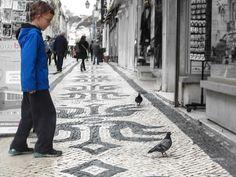 Portuguese Pavement - Lisbon's Unique Street Tiles - via Barefoot Nomads 13.05.2014 | Photo: Unique Portuguese Street Tiles Calçada Portuguesa on Rue Augusta
