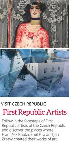 The First Republic Artists of the Czech Republic - Where to see the impressive artwork of the Czech Republic's most important First Republic Artists in galleries across the country. #Prague #czechrepublic #art #Europe #travel #100years