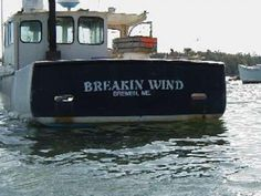 What hilarious boat names can you think of?