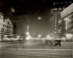Time's Square- here we see the quiet streets of Times Square in 1911. There are no motor cars, no lights, and no people and we see a horse drawn carriage. Who knew that this would one day become the center of all things New York and that Times Square would soon be one of the most popular places on Earth?