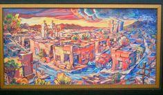 """""""Monsoon over Barrio"""" by Lisa Kanouse;  30x50osd; $1000"""