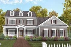 Plan 20029GA: 5 Bed House Plan With Cozy Porch And In Law Suite