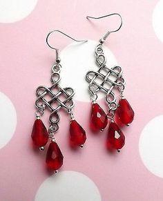 Newer Saphiret Crystal Drop Pierced Earrings Wonderful Color ...
