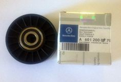 NEW ORIGINAL MERCEDES--BENZ GERMANY. VERY RARE PART FAN BELT TENSIONER PULLEY  PART # A 601 200 09 70 .   WITH THE MERCEDES-BENZ PART #  AND MERCE