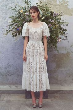 Get inspired and discover Luisa Beccaria trunkshow! Shop the latest Luisa Beccaria collection at Moda Operandi. Luisa Beccaria, Pretty Dresses, Beautiful Dresses, Lace Dress, Dress Up, Eyelet Dress, Swag Dress, Dress Casual, Dress Shoes