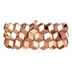 """Paolo Costagli """"Brillante"""" 18k Rose Gold 3-Row Bracelet"""