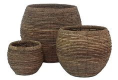 under a table would be adorable...S/3 Round Baskets on OneKingsLane.com