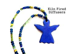 Cobalt Blue Angel Essential Oil Diffuser by KilnFiredDiffusers