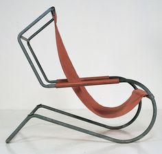 FRANCOIS TURPIN CHAISE LONGUE | Battista and Gino Giudici; Canvas and Zinc-Plated Iron Tubular Frame ...