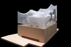 Architektur modell Herzog-d eMeuron - Elbphilharmonie