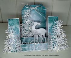 Winter Wonderland by susie australia -Center Stair Step Card with Faux Mar.- Winter Wonderland by susie australia -Center Stair Step Card with Faux Marble Technique Source by - Christmas Cards To Make, Xmas Cards, Handmade Christmas, Christmas Crafts, Christmas Movies, Fancy Fold Cards, Folded Cards, Box Noel, Center Step Cards