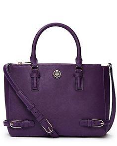 purple Tory Burch tote