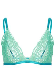 Light blue lace triangle bra