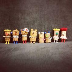 夏休みの工作の流れでコルク人形  #8/30(日)の「木のしたで」#持っていくよ#ハンドメイド#handmade#手作り#キーホルダー#ストラップ