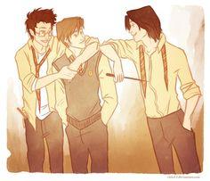 Gotta love James, Sirius and Remus :) Living easy, living free by viria13 on deviantART