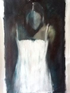 Abito bianco olio su tela Rita Pedullà www.ritapedulla.it #dress #whitedress #white #painting #art #oiloncanvas #donna #woman #ritapedullà