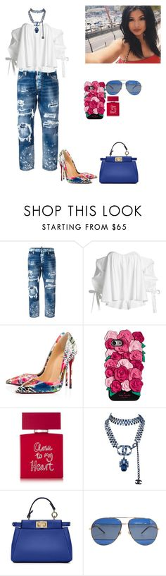 """""""Untitled #596"""" by demircan-esra ❤ liked on Polyvore featuring Dsquared2, Caroline Constas, Christian Louboutin, Kate Spade, Bella Freud, Chanel, Fendi and Christian Dior"""