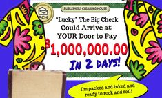 """Find out all the great places """"Lucky"""" has visited so far. Where will he travel to next? One Million Dollars, Winner Announcement, Congratulations To You, Publisher Clearing House, Winning Numbers, Eyes On The Prize, Ring Doorbell, Thursday, Woods"""