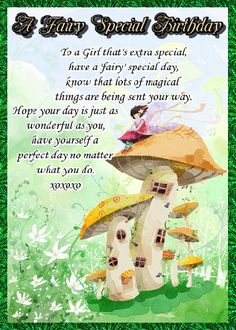 Send your special girl this sweet fairy card. Free online Have A Fairy Special Day ecards on Birthday Happy Birthday Penguin, Birthday Hug, Cute Happy Birthday, Sister Birthday Quotes, Birthday Wishes Funny, Birthday Songs, Special Girl, Special Day, Birthday Fireworks