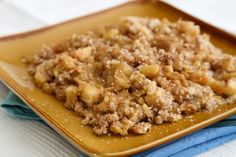 Matzo meal makes a perfect crumble topping for a fruity dessert made with pineapple and pears or apples to round out the Passover meal. Serve with nondairy ice cream