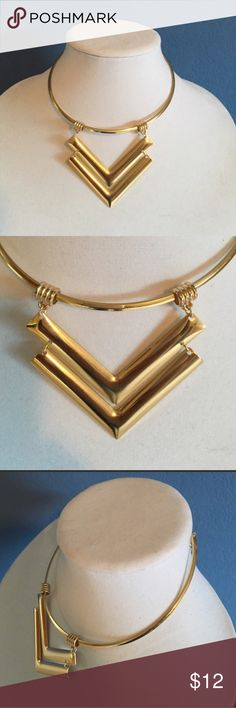 """Double Drop Arrow Shaped Choker  This beautiful necklace will complete almost any look.  Perfect for any occasion.  Centerpiece measures 2.5"""". There is an extender on the back of the necklace. Shop N' Jewelry Necklaces"""