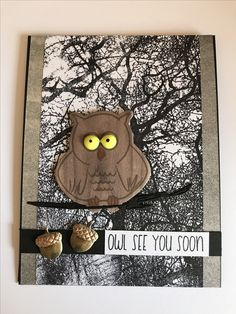 "Aug. 20: Sunday craft day. New ""Owl Pudgie"" from #stampsoflife."