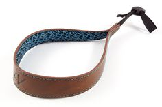 4V Design Ergo Large Handmade Leather Camera Wrist Strap w/ Universal Fit Kit, Brown/Cyan (1LS01BVV2330) -- Read more  at the image link. (This is an Amazon Affiliate link and I receive a commission for the sales)